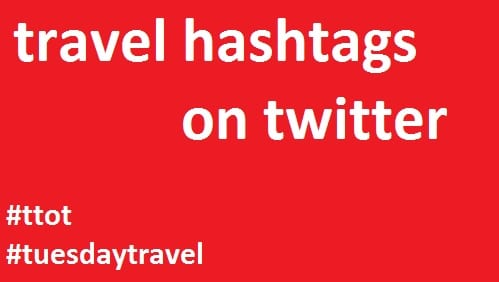 travel hashtags on twitter